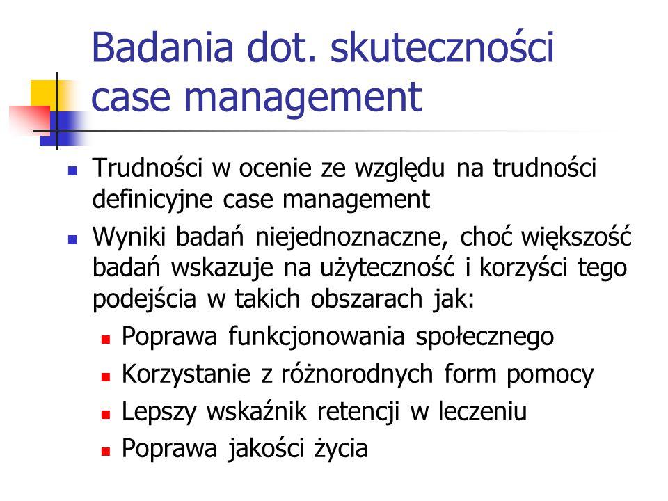 Badania dot. skuteczności case management