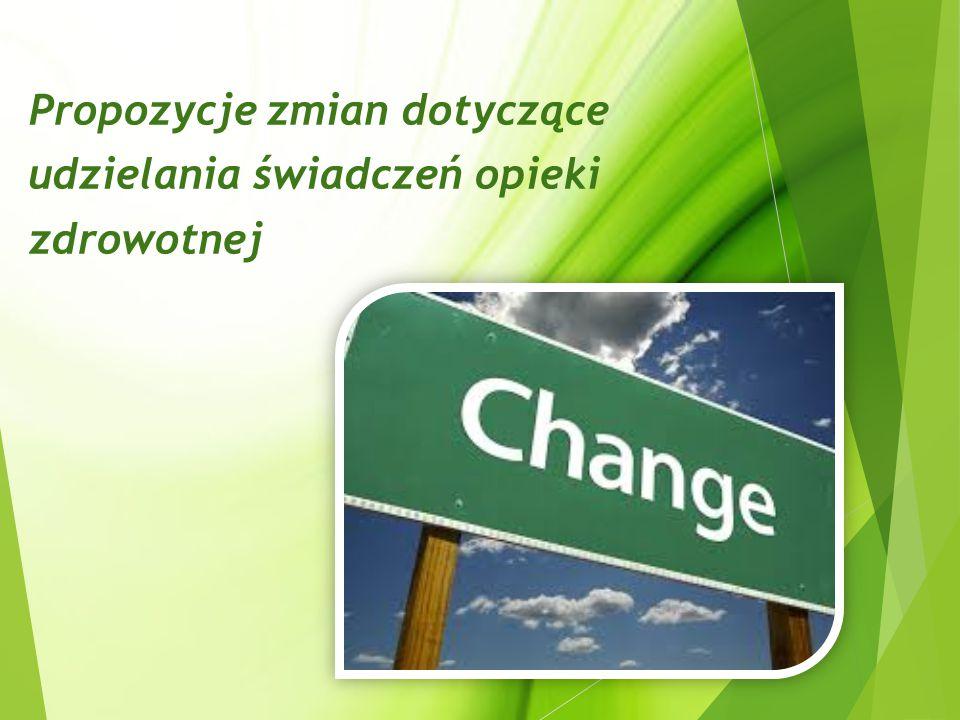 Propozycje zmian dotyczące