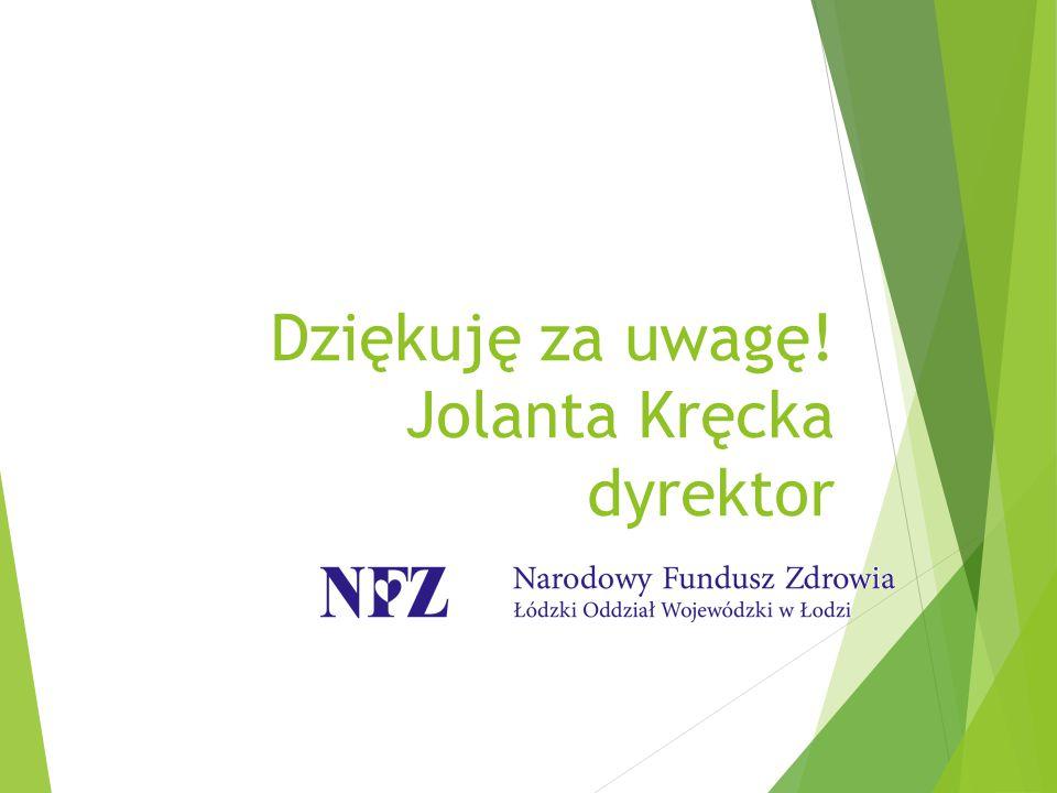 Dziękuję za uwagę! Jolanta Kręcka dyrektor