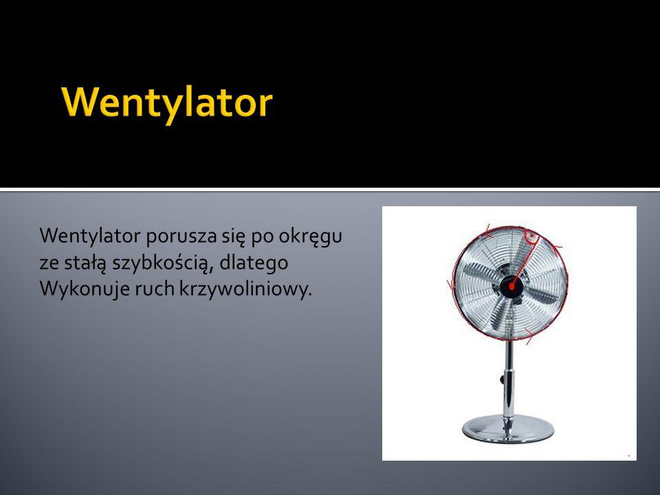 Wentylator Wentylator porusza się po okręgu