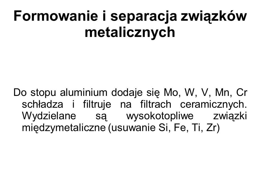 Formowanie i separacja związków metalicznych