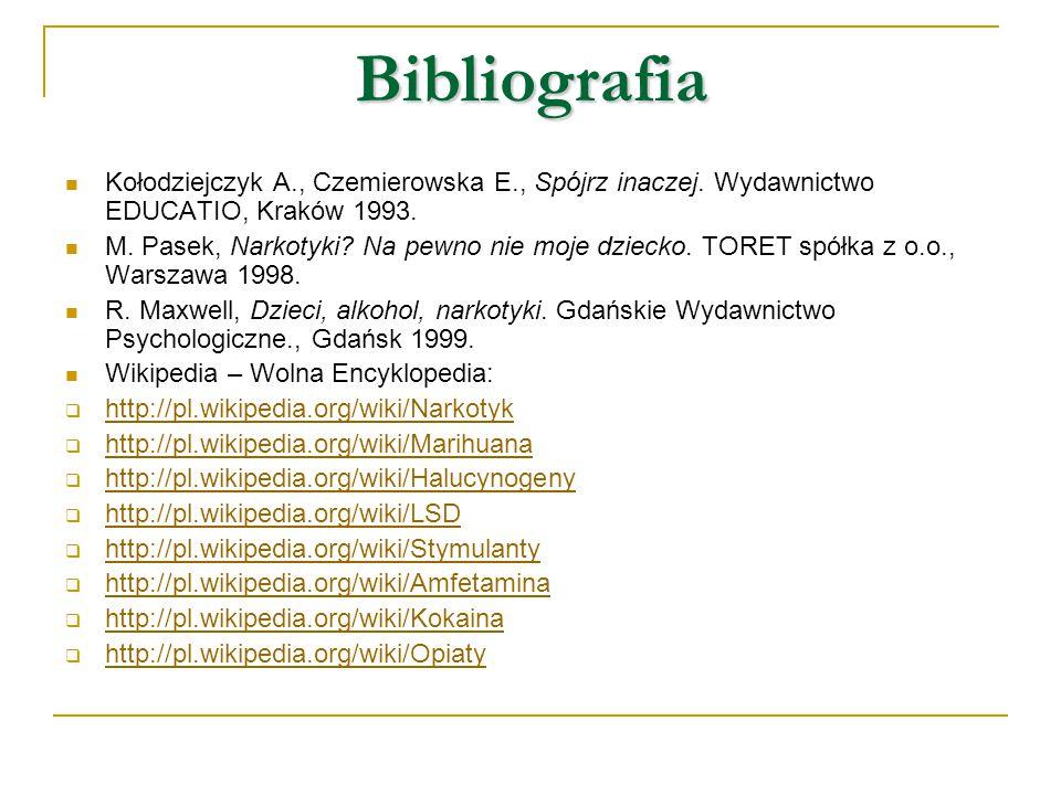 Bibliografia Kołodziejczyk A., Czemierowska E., Spójrz inaczej. Wydawnictwo EDUCATIO, Kraków 1993.
