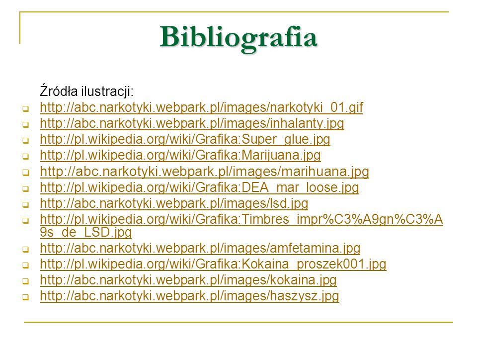 Bibliografia http://abc.narkotyki.webpark.pl/images/marihuana.jpg