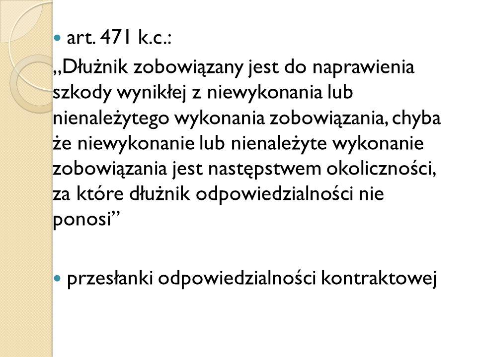 art. 471 k.c.: