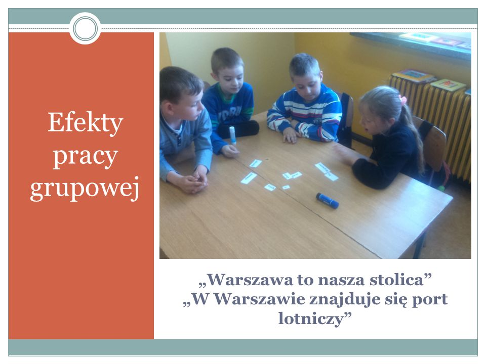 """""""Warszawa to nasza stolica """"W Warszawie znajduje się port lotniczy"""