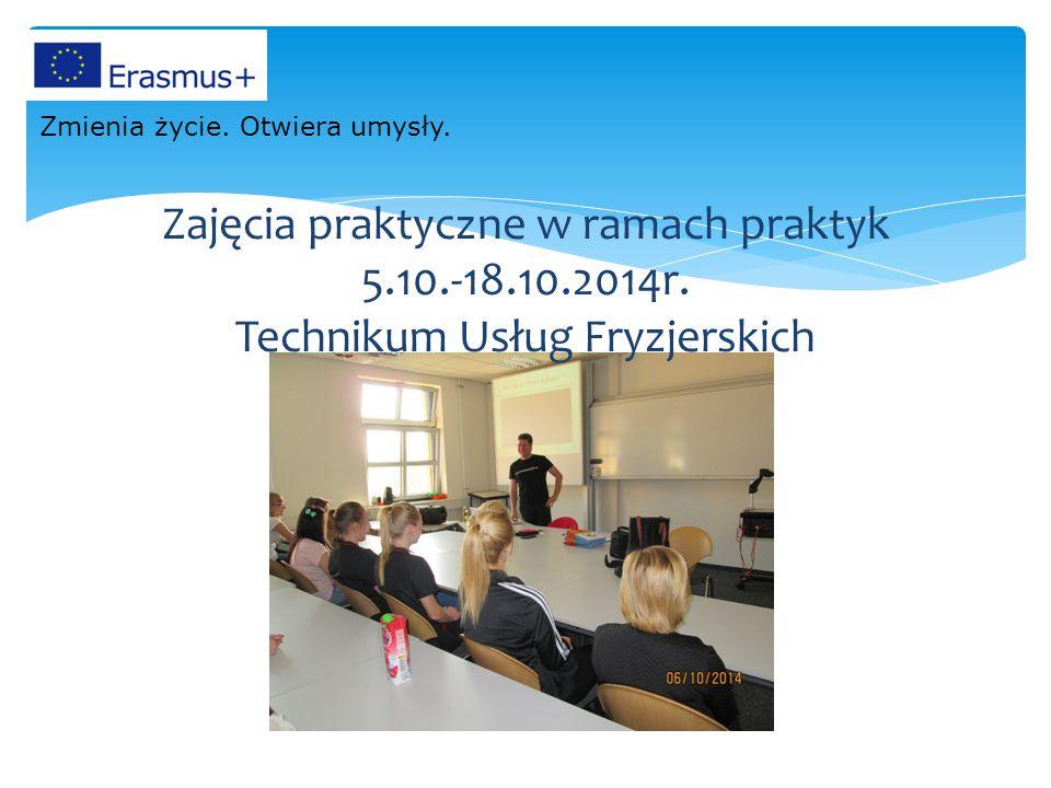 Zajęcia praktyczne w ramach praktyk 5. 10. -18. 10. 2014r