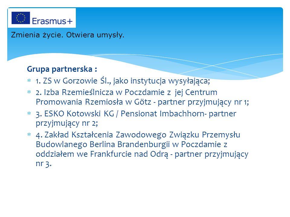 1. ZS w Gorzowie Śl., jako instytucja wysyłająca;