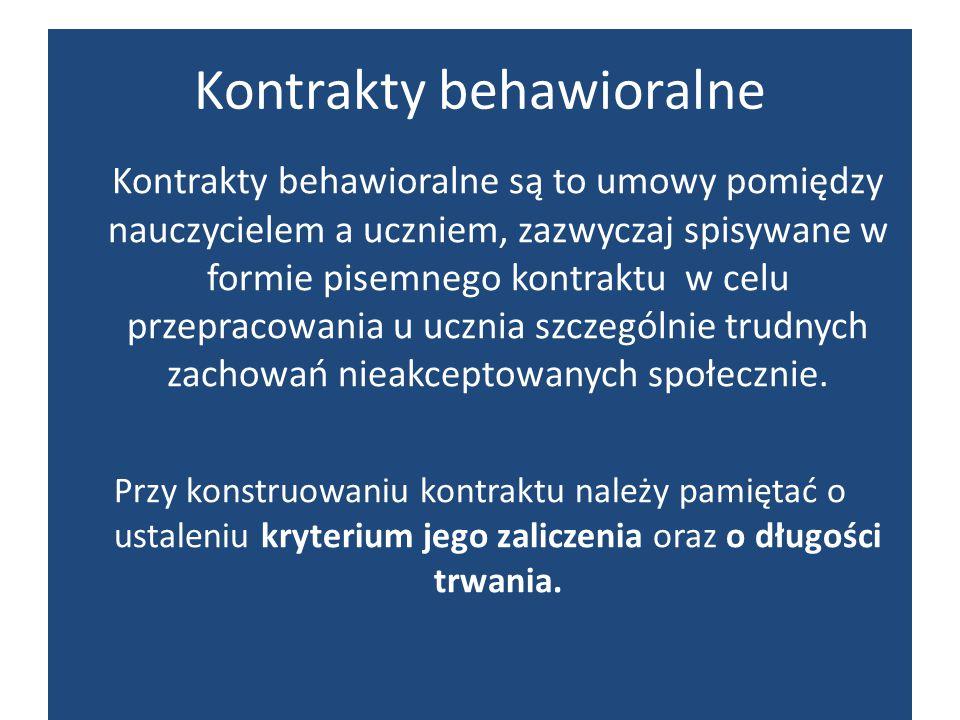Kontrakty behawioralne