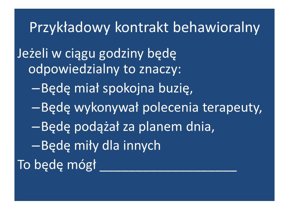 Przykładowy kontrakt behawioralny