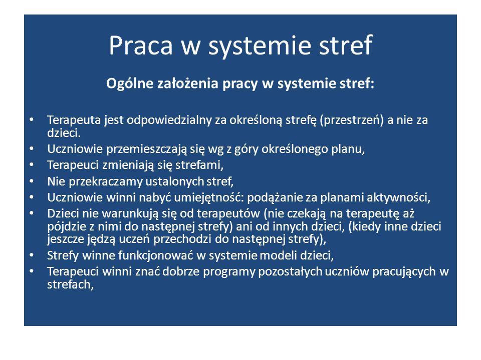 Ogólne założenia pracy w systemie stref: