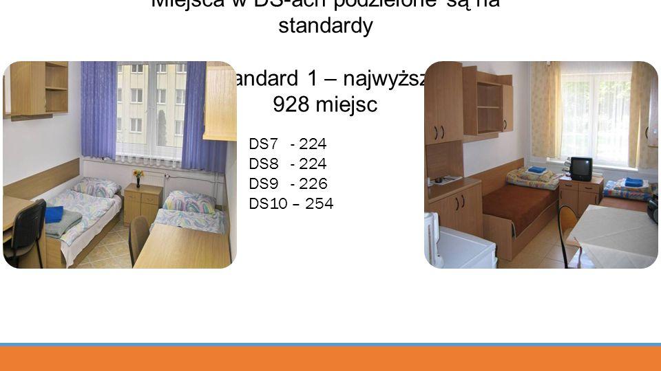 Miejsca w DS-ach podzielone są na standardy