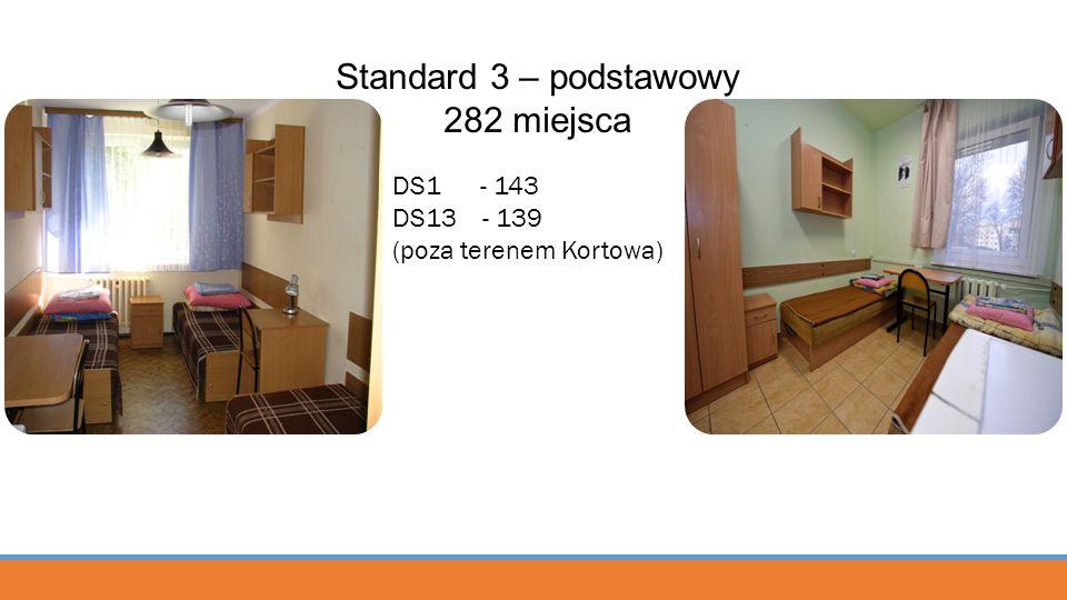 Standard 3 – podstawowy 282 miejsca DS1 - 143 DS13 - 139