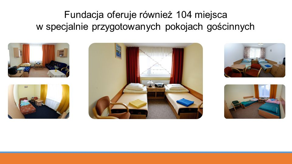 Fundacja oferuje również 104 miejsca