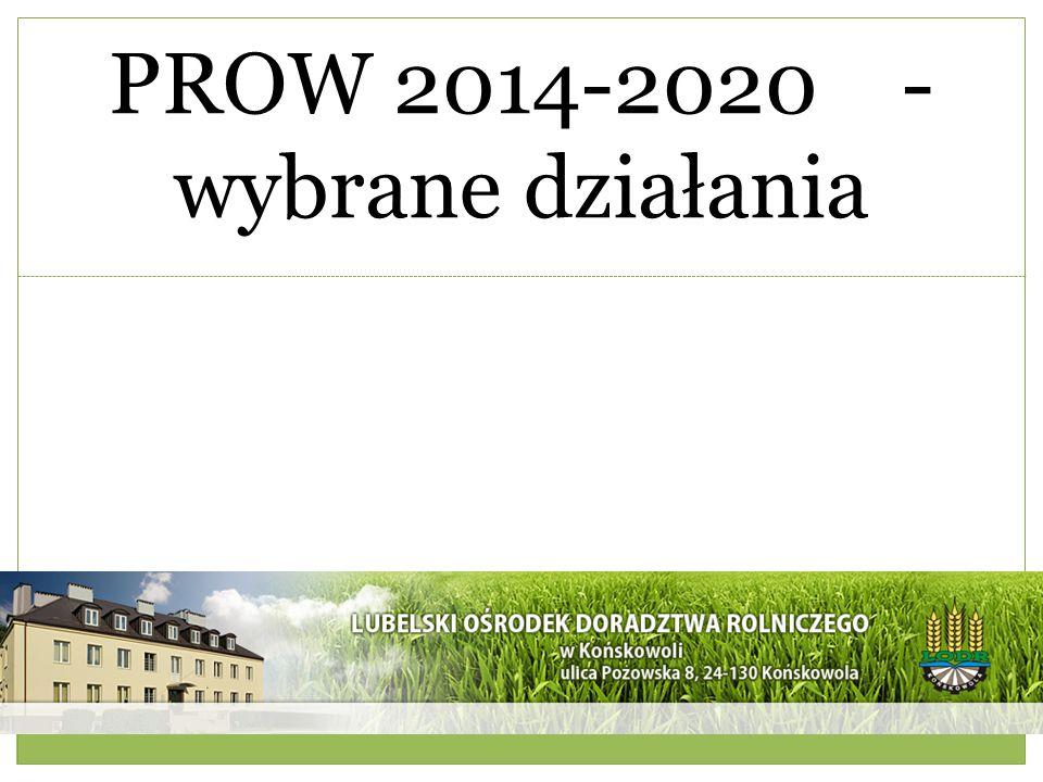 PROW 2014-2020 -wybrane działania