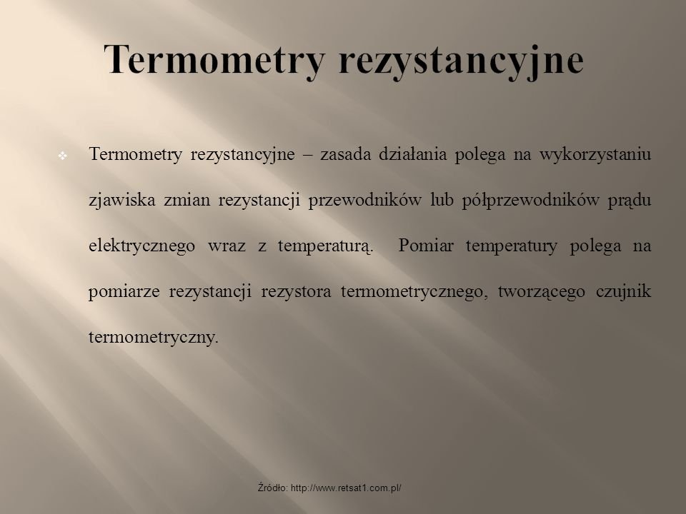 Termometry rezystancyjne