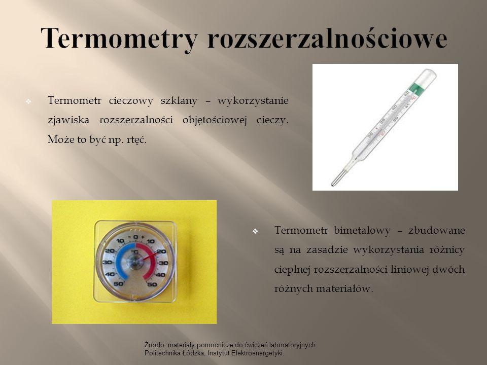 Termometry rozszerzalnościowe