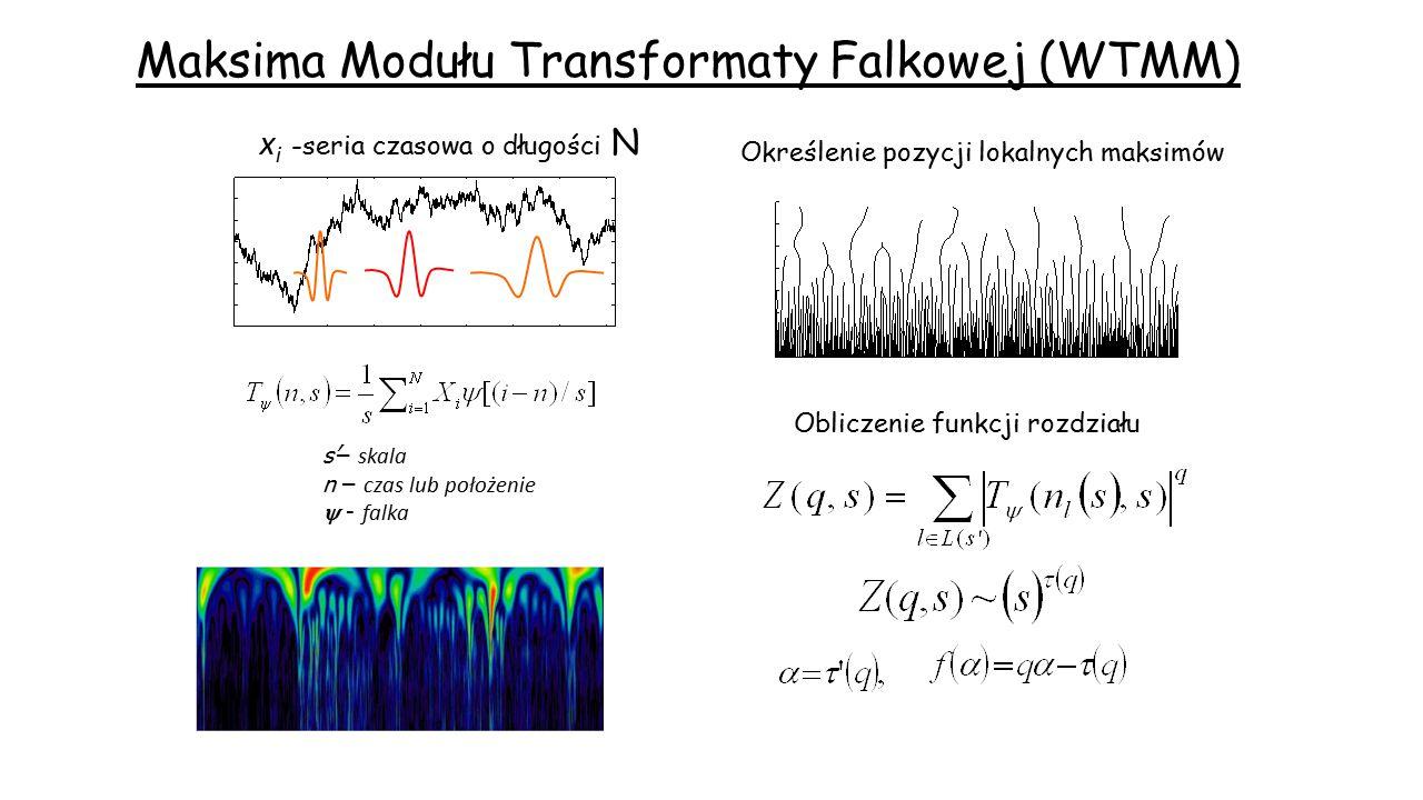 Maksima Modułu Transformaty Falkowej (WTMM)