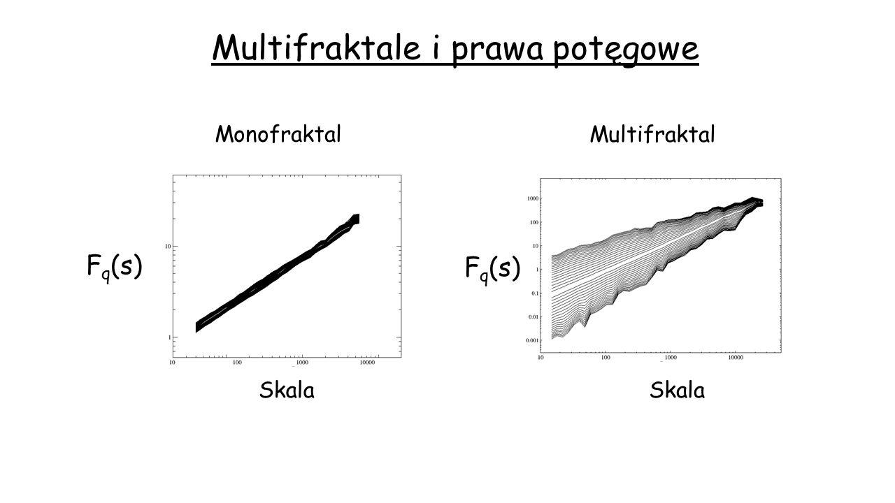 Multifraktale i prawa potęgowe