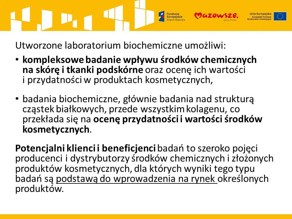 Utworzone laboratorium biochemiczne umożliwi: