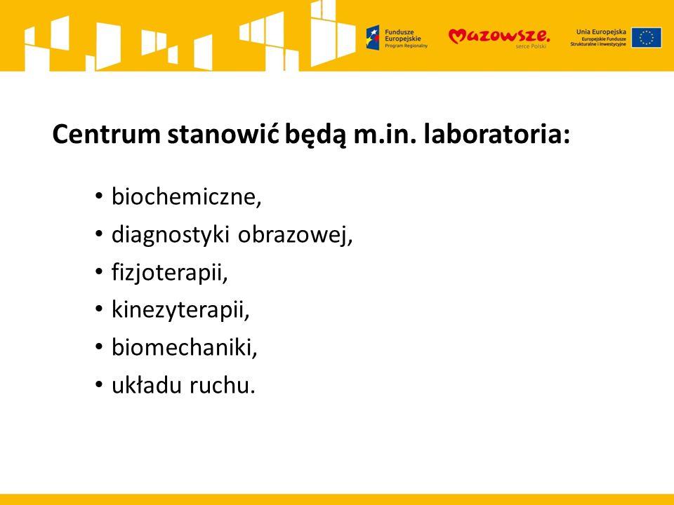 Centrum stanowić będą m.in. laboratoria: