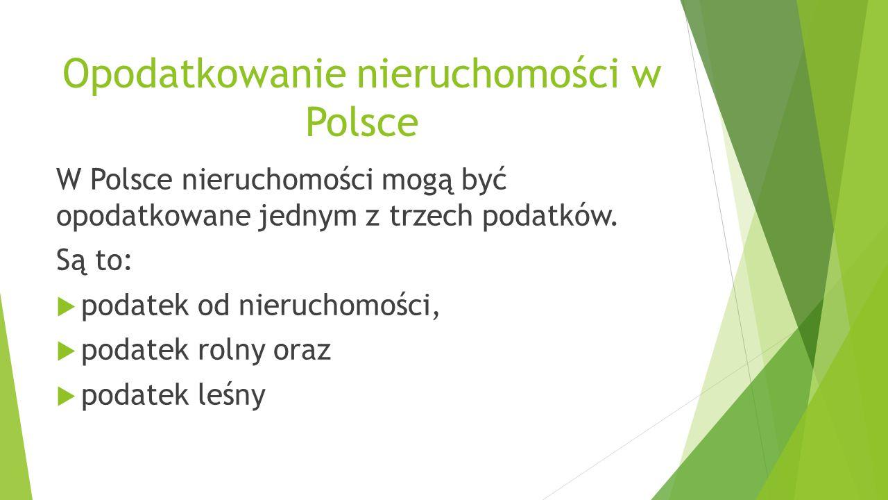 Opodatkowanie nieruchomości w Polsce