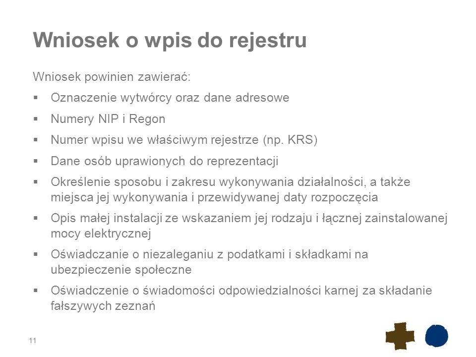 Wniosek o wpis do rejestru