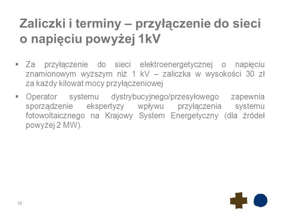 Zaliczki i terminy – przyłączenie do sieci o napięciu powyżej 1kV