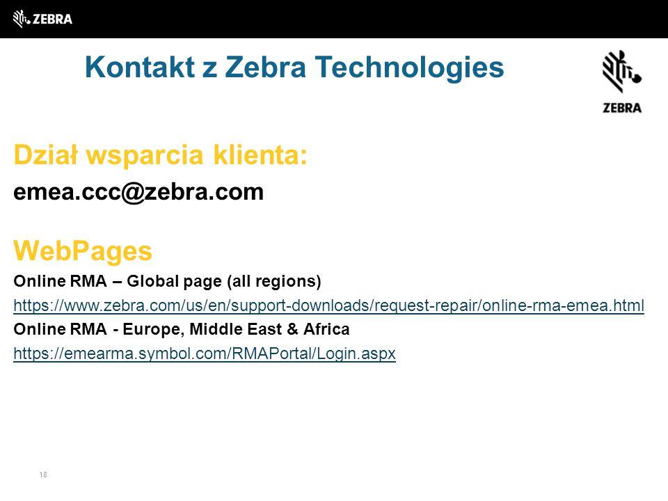 Kontakt z Zebra Technologies