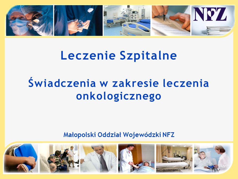 Leczenie Szpitalne Świadczenia w zakresie leczenia onkologicznego