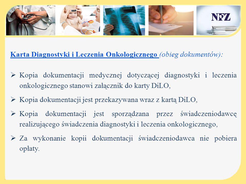 Karta Diagnostyki i Leczenia Onkologicznego (obieg dokumentów):