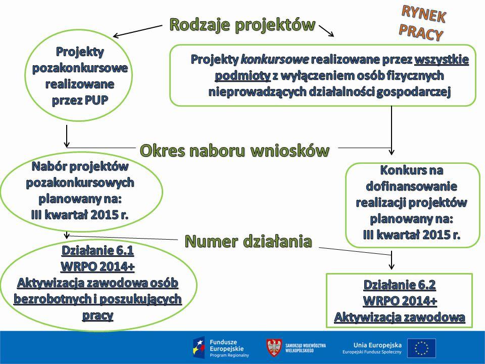 Rodzaje projektów Okres naboru wniosków Numer działania