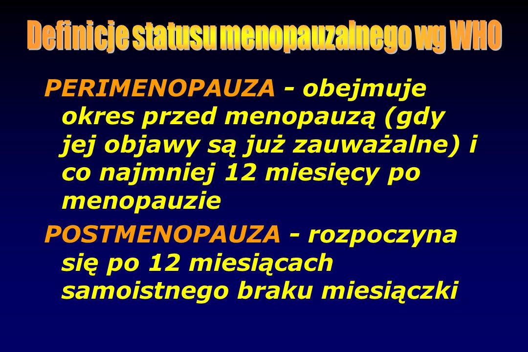 Definicje statusu menopauzalnego wg WHO