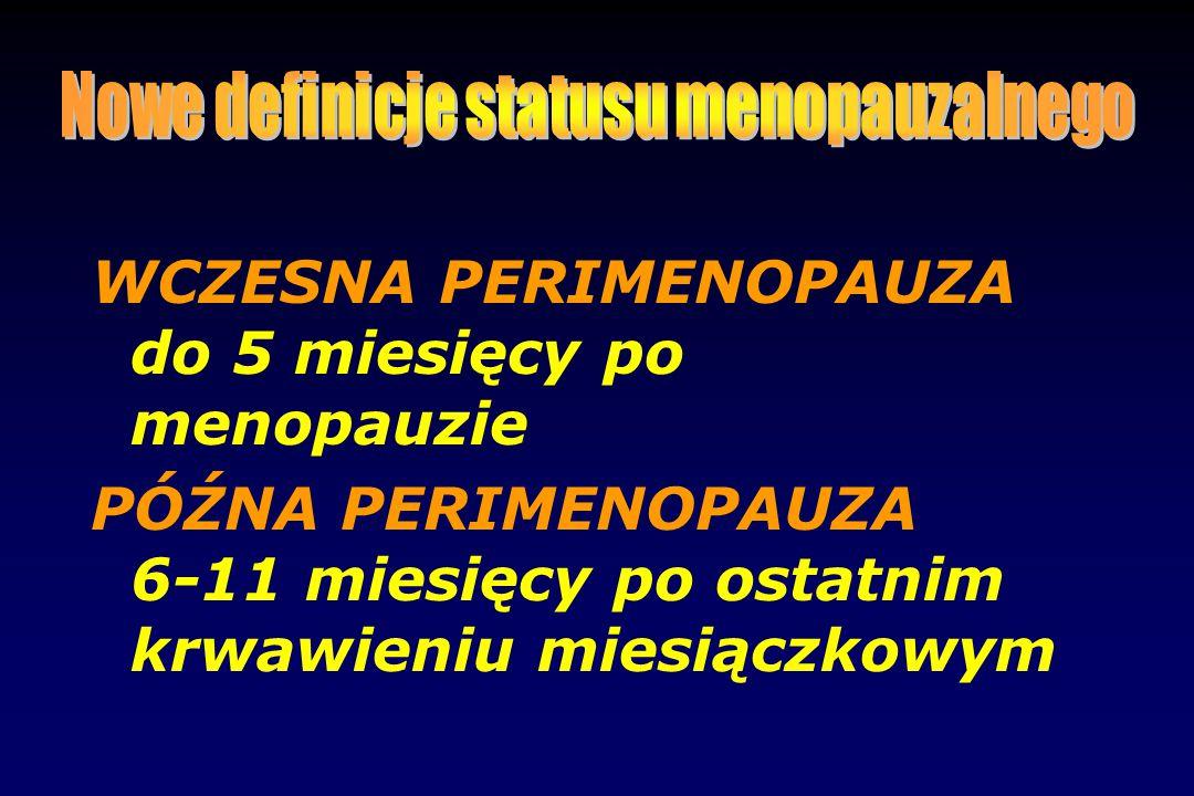 Nowe definicje statusu menopauzalnego