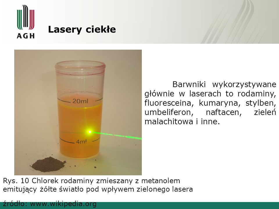 Lasery ciekłe