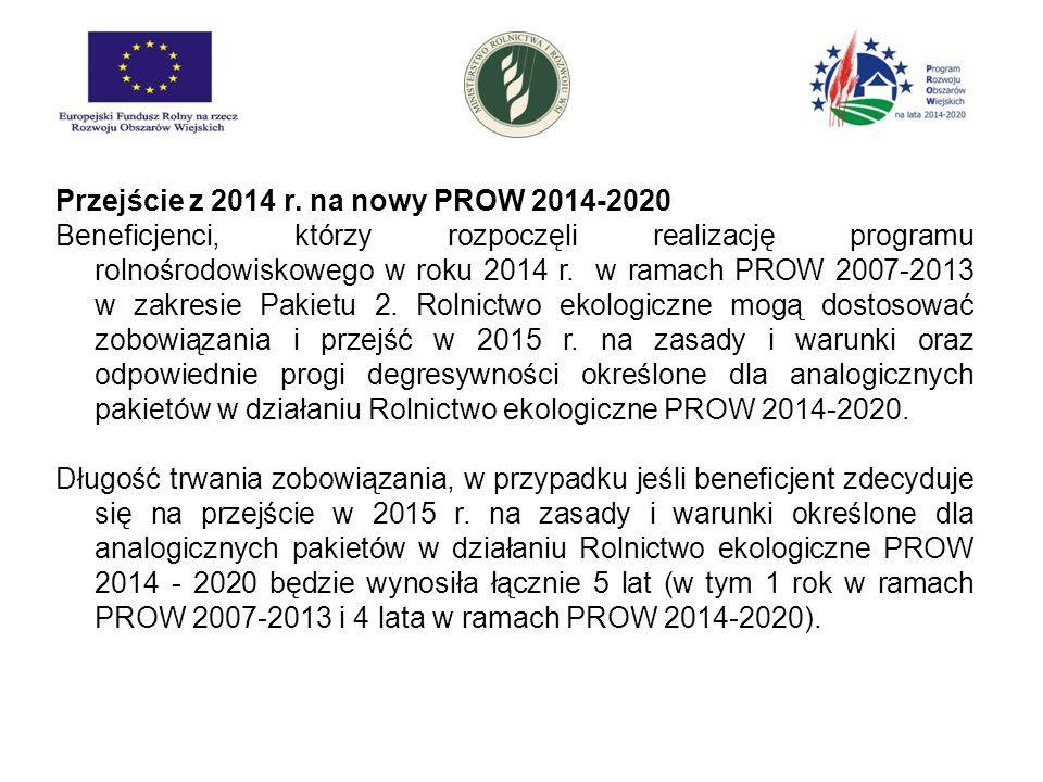 Przejście z 2014 r. na nowy PROW 2014-2020