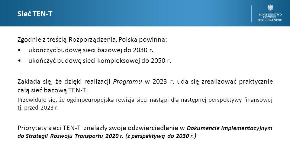Sieć TEN-T Zgodnie z treścią Rozporządzenia, Polska powinna: