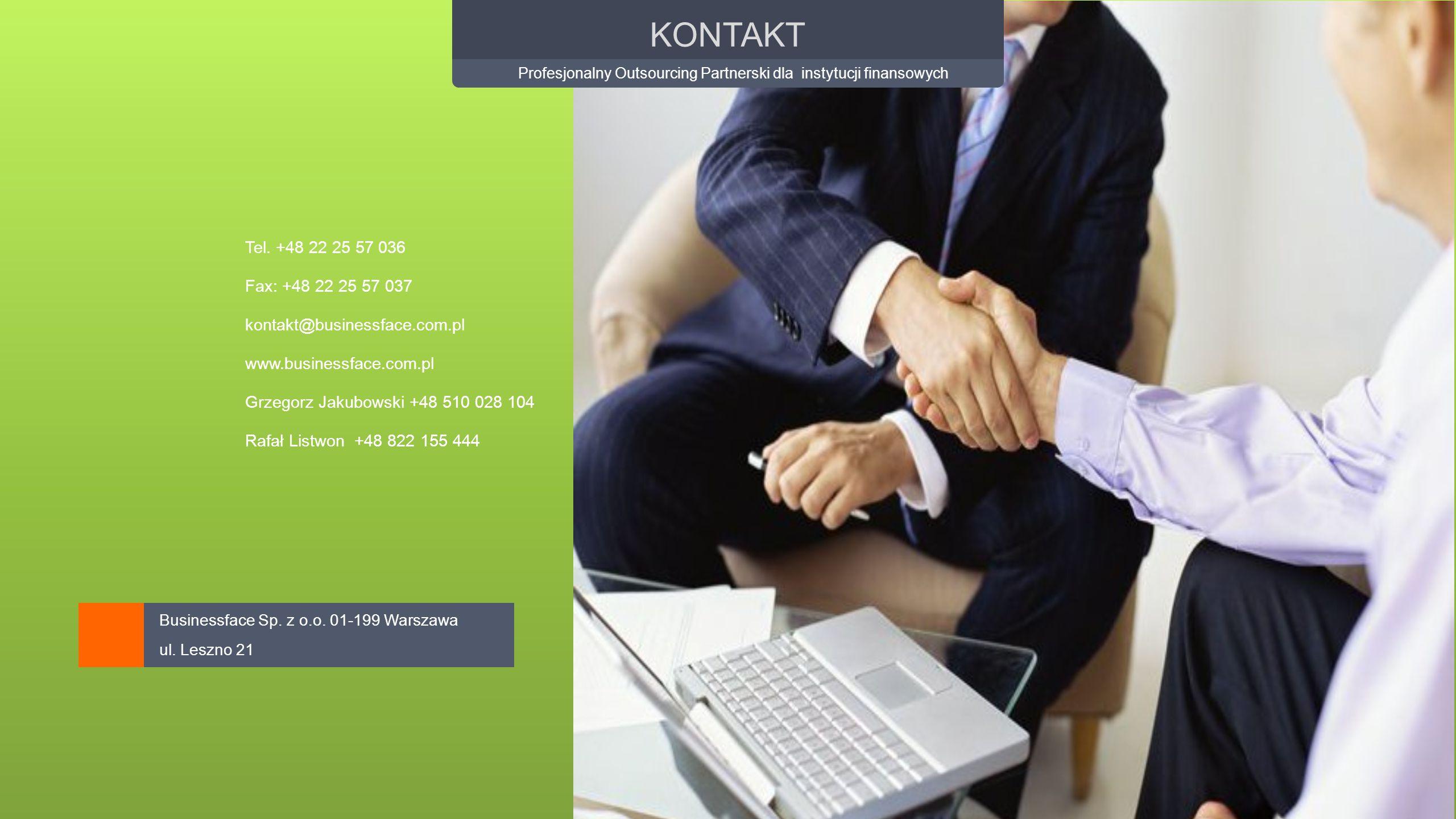 Profesjonalny Outsourcing Partnerski dla instytucji finansowych