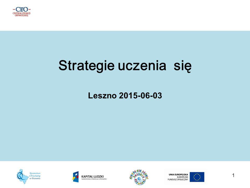 Strategie uczenia się Leszno 2015-06-03