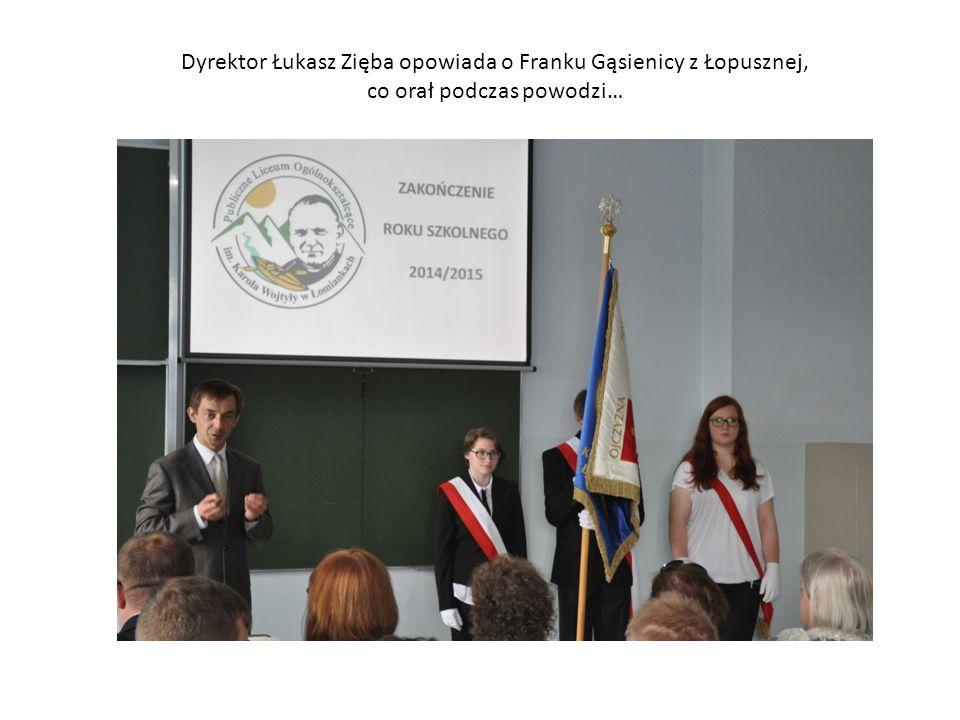 Dyrektor Łukasz Zięba opowiada o Franku Gąsienicy z Łopusznej,