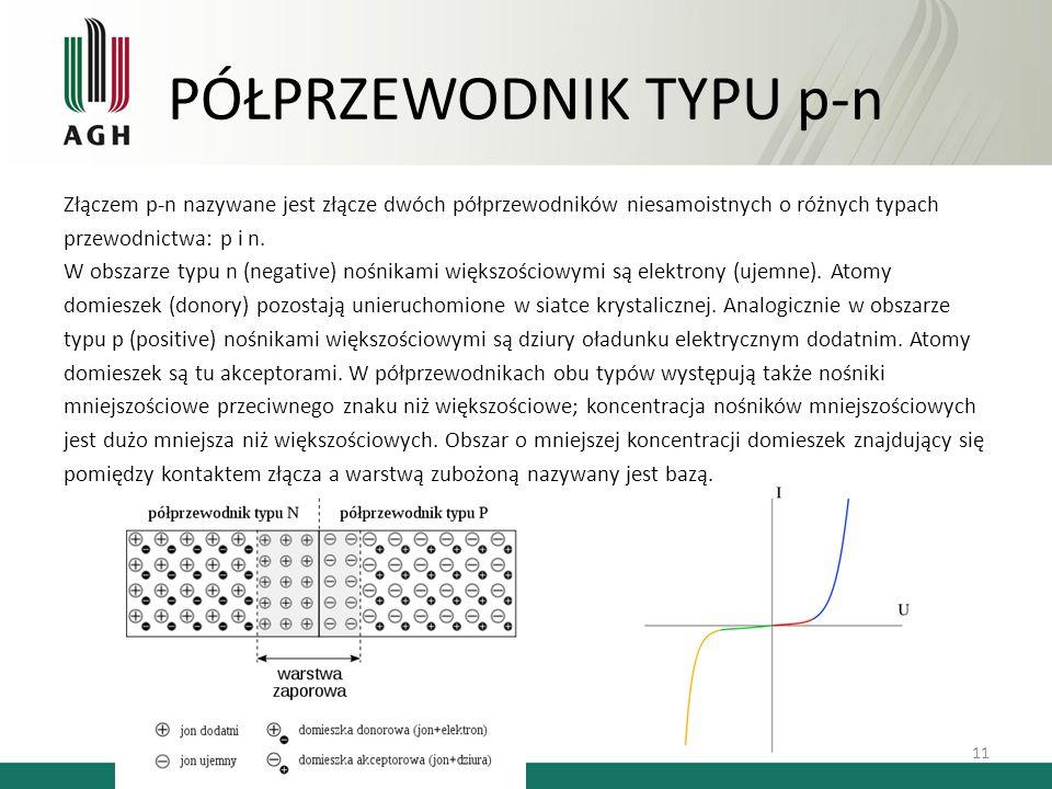 PÓŁPRZEWODNIK TYPU p-n