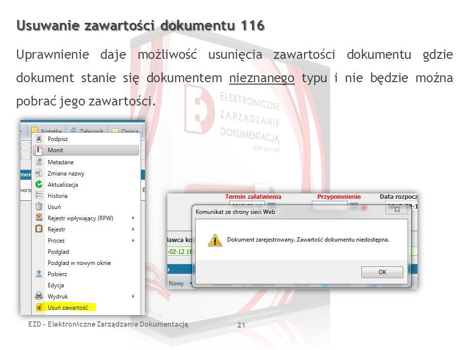 Usuwanie zawartości dokumentu 116