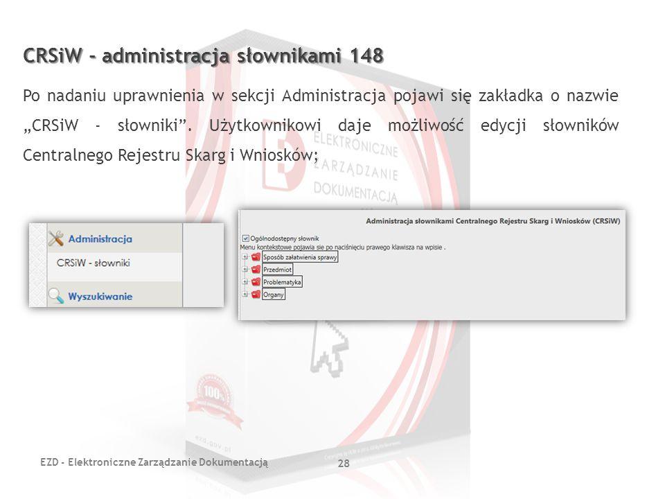 CRSiW - administracja słownikami 148