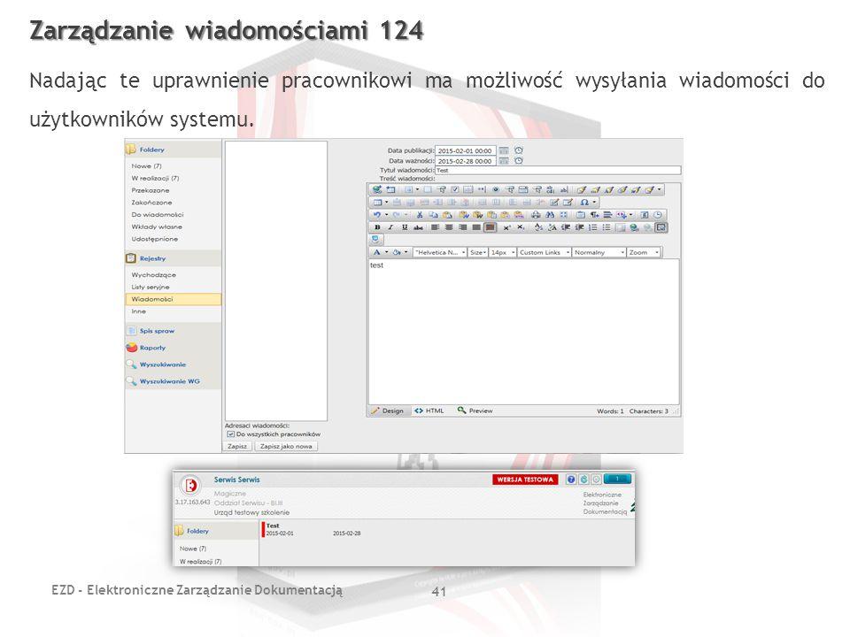Zarządzanie wiadomościami 124