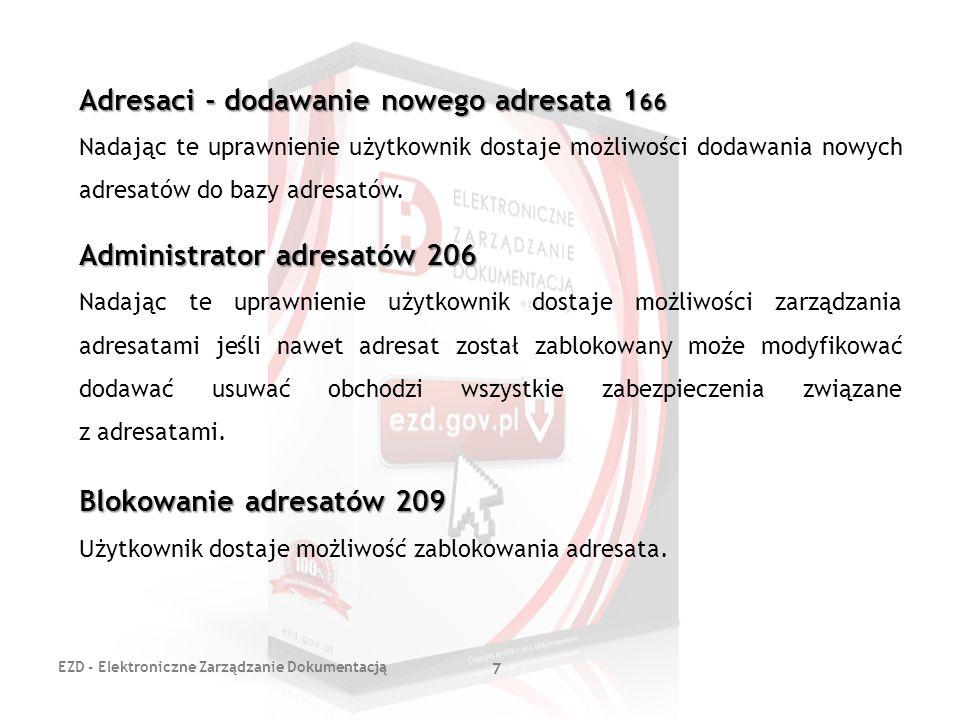 Adresaci - dodawanie nowego adresata 166