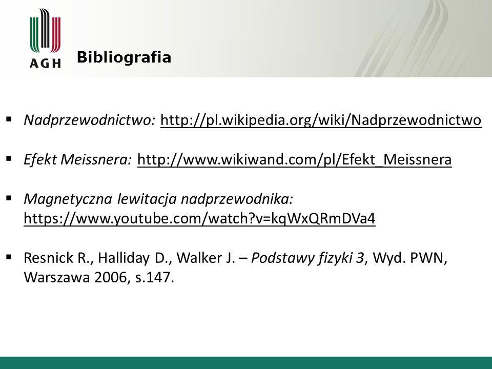Nadprzewodnictwo: http://pl.wikipedia.org/wiki/Nadprzewodnictwo