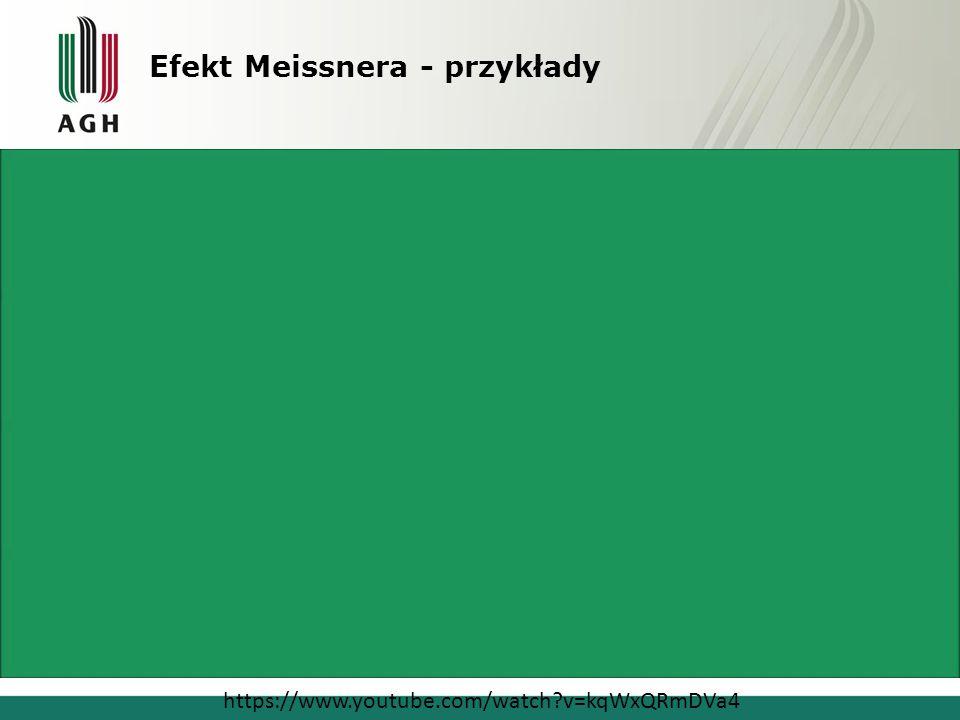 Efekt Meissnera - przykłady