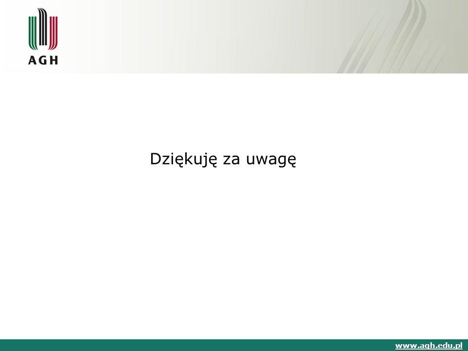 Dziękuję za uwagę www.agh.edu.pl