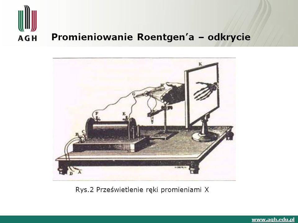 Promieniowanie Roentgen'a – odkrycie