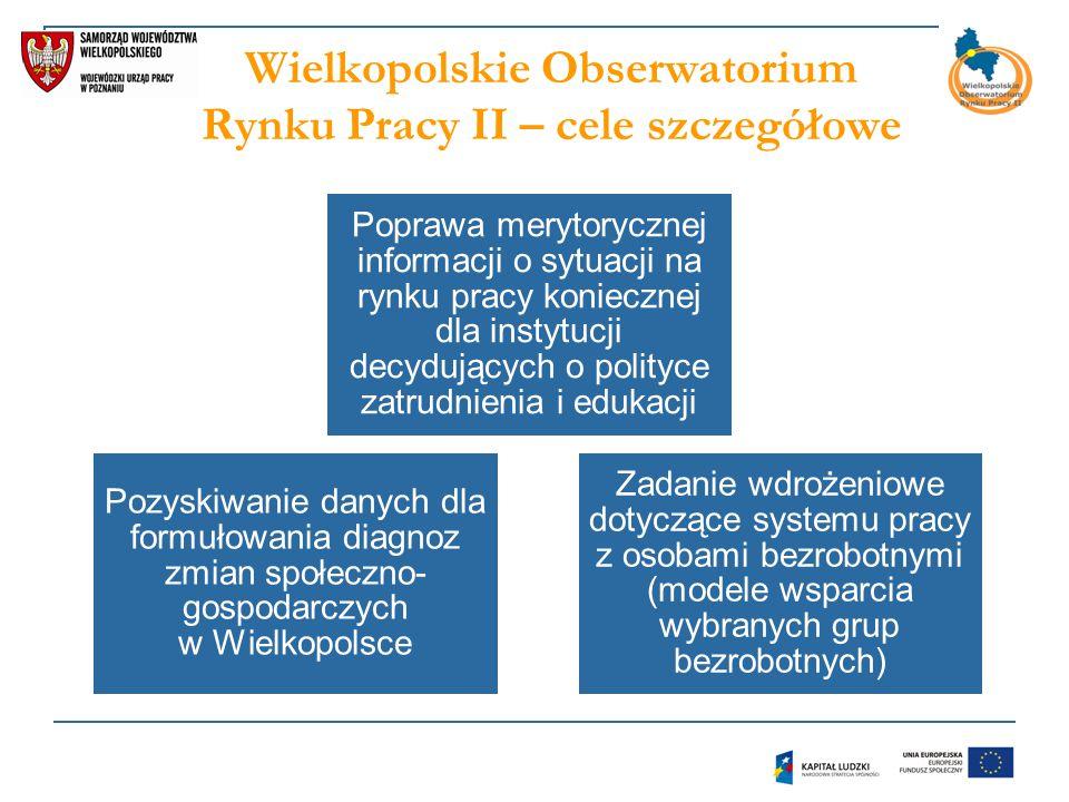 Wielkopolskie Obserwatorium Rynku Pracy II – cele szczegółowe