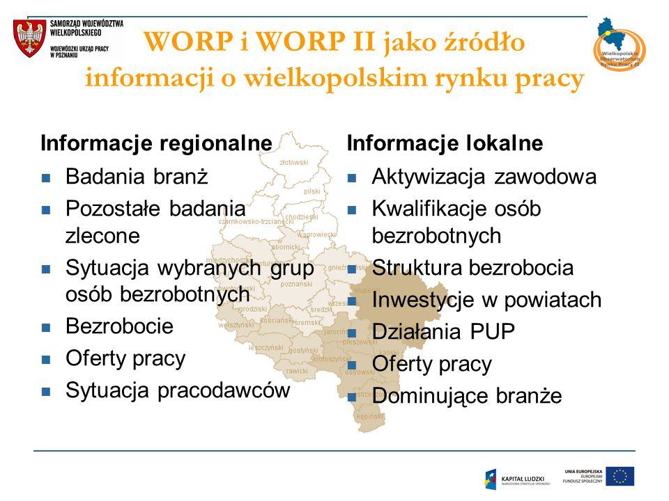 WORP i WORP II jako źródło informacji o wielkopolskim rynku pracy